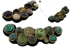 """Add a splash of colour to your wardrobe with this charming piece. Handmade of various coloured zippers, it can be used as a choker of 5.90""""(15cm) diameter, or as a necklace 7.87"""" (20cm) long, the biggest circle has 0.78"""" (2cm) diameter"""