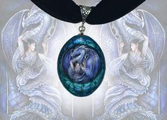 Choker Necklace  Dragon's bride blue fantasy jewellery