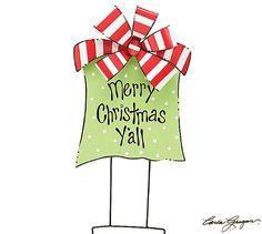 Burton+Burton Merry Christmas Yu0027all Yard Sign
