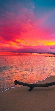 Sonnenaufgang - No paint, no gain :) All Nature, Amazing Nature, Beautiful Sunrise, Beautiful Beaches, Life Hacks Diy, Foto Instagram, Beach Photos, Beautiful Landscapes, Strand