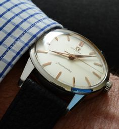 Vintage OMEGA Seamaster Dress Watch In Stainless Steel Circa 1950s - http://omegaforums.net
