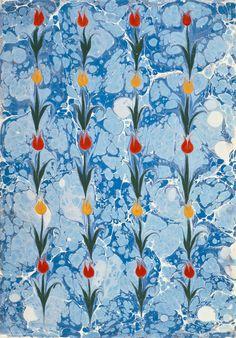 Necmeddin Okyay,Necmeddin-Ebru, marbled paper, 1962-64. Istanbul.