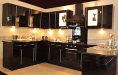 14 Quality Black Kitchen Cabinets for Sale Collection - Furniture kitchen Discount Kitchen Cabinets, Kitchen Cabinets For Sale, Kitchen Sale, Kitchen Cabinet Remodel, Kitchen Ideas, Distressed Kitchen Cabinets, Stained Kitchen Cabinets, Gloss Kitchen, Black Cabinets