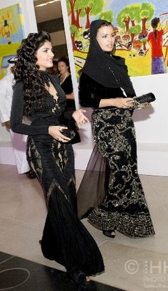 Her Highness Princess Ameerah bint Aidan bin Nayef Al-Taweel of Saudi Arabia and Her Highness Sheikha Mozah bint Nasser Al Missned of Qatar Princess Of Saudi Arabia, Saudi Princess, Arabian Princess, Muslim Women Fashion, Modest Fashion, Hijab Fashion, Womens Fashion, Collection Eid, Mode Hijab