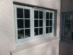 This #Georgian pattern #window replaced some old rusty metal framed windows. The double glazing greatly improved the heat loss and almost eliminated condensation.