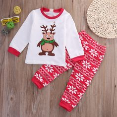 Cute Kids Cotton Christmas Clothe Sets Baby Girl Boy Autumn Long Sleeve Tops Casual Pants Outfits Costume #>=#>=#>=#>=#> Click on the pin to check out discount price, color, size, shipping, etc. Save and like it!