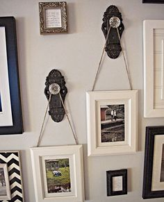 10 things to scoop up at summer flea markets - Door knobs  We love this creative take on doorknobs by The Sideways House. Use them to hang photographs, keys, scarves, jewellery — the possibilites are endless.