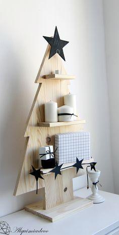 Alquimia: DIY: Arbol de navidad de madera