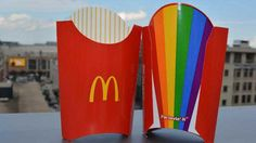 "Mcdonald's Rolls Out Rainbow Fry Boxes in Support of ""Gay Pride"""