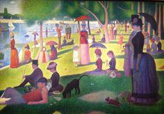 Georges Seurat - Chicago Art Institute. Pointillism, an amazing technique