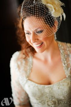 Nothing like a Floral Head-piece with a little netting in replacement of the traditional vail. See more at: www.bernardsinn.com