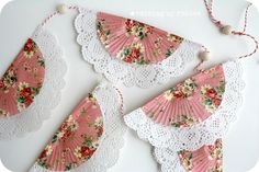 Bunting using doilies and cupcake liners