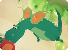 My House of Giggles: A Dragon Birthday Party ! (part Love how the dragons are floating with balloons =) Dragon Birthday Parties, Dragon Party, Birthday Party Themes, Birthday Ideas, Teddy Bear Birthday, Boy Birthday, Birthday Stuff, Halloween Birthday, Dragons Love Tacos