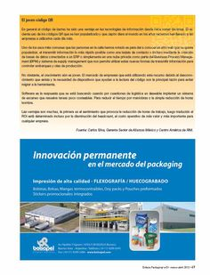Entrevista de implementación del QR Code en el packaging de New Age realizada para la revista Enfasis Logística Online - by Mariano Cunille - Página 4