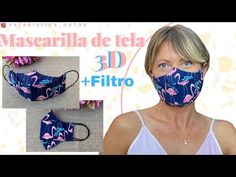 MASCARILLA 3D CON FILTRO DE TELA PELLÓN - MASK 3D WITH FILTER - YouTube Easy Face Masks, Diy Face Mask, Diy Home Crafts, 3 D, Projects To Try, Baby Shower, Make It Yourself, Couture, Sewing