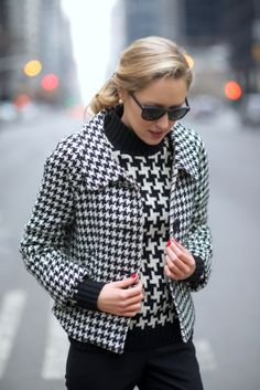 Houndstooth + Houndstooth - how to mix patterns - or reiterate them. Was just…