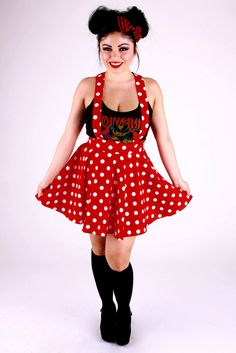 Minnie Polka Dot Suspender Circle Skirt by 1138Clothing on Etsy https://www.etsy.com/listing/183404025/minnie-polka-dot-suspender-circle-skirt