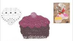 How to crochet a cupcake coaster - YouTube