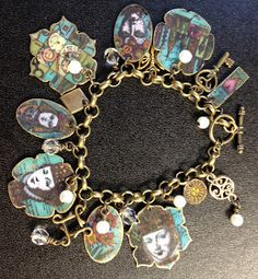 Yours Artfully: Lin Brown's new shrink plastic bracelet