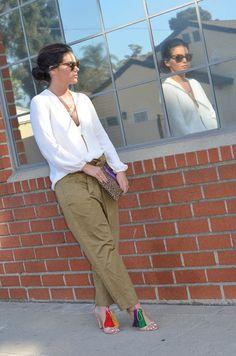 Zara Satin Army Trousers-14