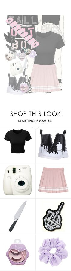 """Fall Out Sweetheart"" by princess-jinx ❤ liked on Polyvore featuring LE3NO, Revolver, Dr. Martens, Fuji, Alessi and Etude House"