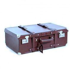 Handmade Leather Suitcase. It's beautiful.