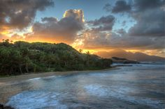 Sunset over Dominica