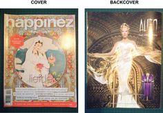 Deel 2 analyse - Magazine happinez: Op de cover staat altijd een mooie afbeelding in een cirkel met daaronder het thema, zodat de lezer direct kan zien over wat het deze keer gaat.