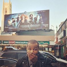 """""""Look what found in Hollywood! Isaiah Mustafa, Matthew Daddario, Clace, Shadow Hunters, Cassandra Clare, The Mortal Instruments, In Hollywood, Superstar, It Cast"""