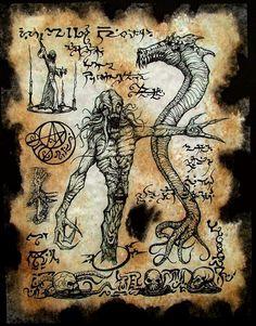 Items similar to cthulhu Necronomicon Demon Gates dark occult on Etsy Cthulhu Art, Call Of Cthulhu, Hp Lovecraft Necronomicon, Dark Books, Lovecraftian Horror, Dark Artwork, Magic Symbols, Ange Demon, Mystique