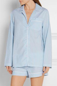 Three J NYC | Phoebe striped cotton-poplin pajama set