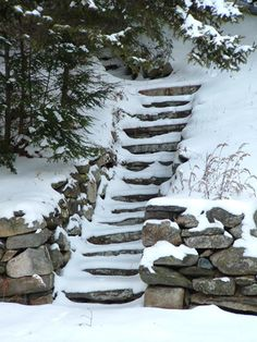 THIS IS MY MOTHER IN LAW'S PICTURES THEY ARE AWESOME!! CHECK OUT HER website LISTED BELOW!!!! Frosted stone steps. A typical New England winter. Greeting card format or enlargements. njoymeantphotos.com