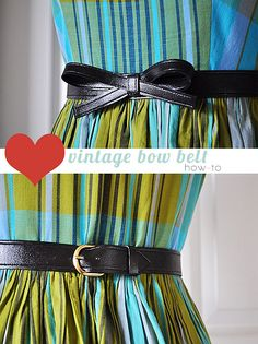 tutorial -- how to make a vintage bow belt. Diy Belts, Diy Wardrobe, Bow Belt, Gift Bows, Creation Couture, Diy Bow, Mode Vintage, Vintage Style, Sewing Accessories