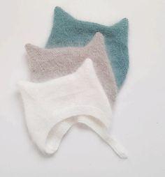 Angora Kitty Hat in blue