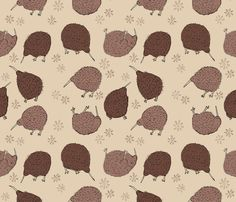 Bumblin' Kiwis fabric by emseeitch on Spoonflower - custom fabric