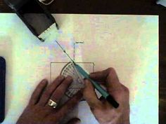 Refraction - drawing refraction in a glass block. - YouTube