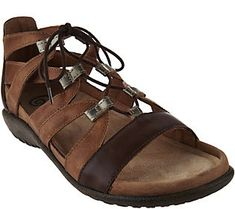 41f48cd4a8d Naot Leather Ghillie Sandals - Selo Naot Shoes