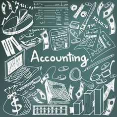 Accounting and financial education chalk handwriting doodle icon of banknote, money, balance sheet and cost and revenue sign and symbol in blackboard background used for business presentation title with header text, create by vector , Wallpaper Doodle, Black Phone Wallpaper, Math Wallpaper, Front Page Design, Front Cover Designs, Accounting Notes, Financial Accounting, Project Cover Page, Science Icons