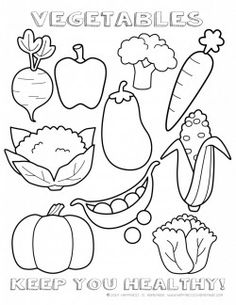 Printable Healthy Eating Chart & Coloring Pages – Happiness is Homemade