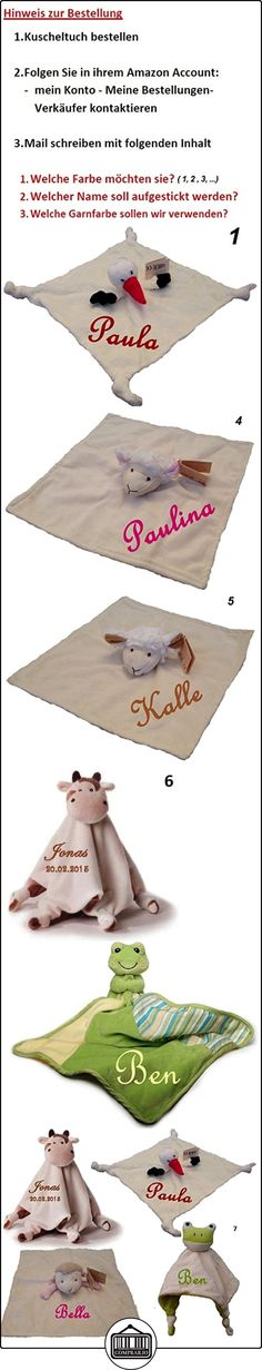 Manta con muñeco para bebé, con nombre bordado, diseño a elegir (oso, cigüeña, oveja)  ✿ Regalos para recién nacidos - Bebes ✿ ▬► Ver oferta: http://comprar.io/goto/B00KK5G8HO
