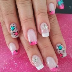 Puntas Beauty Nails, Beauty Makeup, Hair Beauty, Cute Nail Designs, Simple Designs, Nail Arts, Cute Nails, Pedicure, Hair And Nails