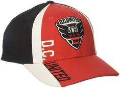 new style 7f2ab 87c31 adidas MLS D.C. United Adult Men Cut  N Sew Curved Visor Flex,  24.00