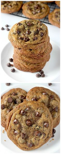 Greek Yogurt Chocolate Chip Cookies - made with Whole wheat flour, Greek yogurt, and Coconut Oil! YUM. (Baking Tools Cheat Sheets)