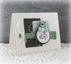 Handmade baby card by Julee Tilman using the To the Moon stamp set from Verve. #vervestamps