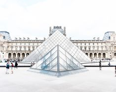 Louvre Print Paris Iconic Print Paris Photograph by ItBeganInParis