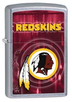 Zippo NFL Washington Redskins Street Chrome Windproof Lighter
