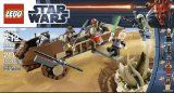 LEGO Star Wars 9496 Desert Skiff - LEGO Star Wars 9496 Desert Skiff      Features Desert Skiff and Sarlacc PitDesert Skiff features retractable plank, flick missile and weapons lockerSarlacc Pit features opening mouth large enough to fit a minifigure