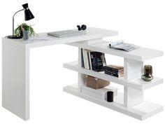 BUREAU ''VOLTA'' - avec étagère amovible, coloris blanc - code article : 252205