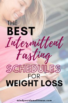 Diet Plan To Lose Weight Intermittent fasting is EASY to fit into your lifestyle! Fortunately, intermittent fasting schedules aren't one-size-fits-all. Check out this post to learn about the different options to losing weight with intermittent fasting! Weight Loss Meals, Losing Weight Tips, Weight Loss Tips, How To Lose Weight Fast, Weight Gain, Lose Fat, Lose Belly Fat, Health Blog, Health Articles
