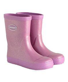 29d8fcb0985 Loving this Lilac Galochas Glitter Rain Boot - Kids on  zulily!   zulilyfinds Passeio